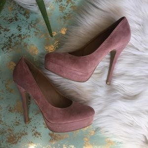 LC Lauren Conrad blush heel pumps